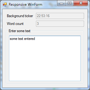Responsive WinForms using Rx